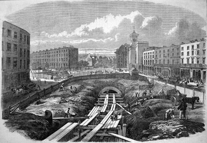 Резултат с изображение за първата линия на Лондонското метро