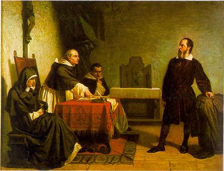 """""""Галилео пред Римската инквизиция"""", картина на Кристиано Банти от 1857"""